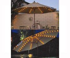 SOLAR UMBRELLA LIGHTS 72 LED STRING GARDEN PARASOL FAIRY DUAL FUNCTION OUTDOOR