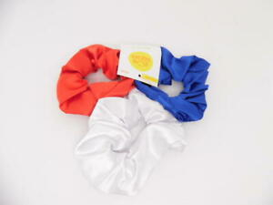 Sun Squad Hair Elastic - Red, White & Blue - 3 Count Hair Ties