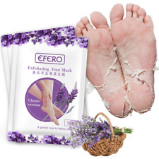2 pair Efero Feet Exfoliating Foot Mask Skin care Peeling Dead Skin Feet Mask