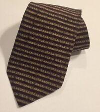 Gap Silk Neck Tie Burgundy Maroon Stripes 56 Inch Short Striped Necktie NWOT