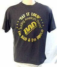 Vintage B.A.D. Be Against Drugs Campaign Shirt Size L 50/50 Poly Cotton Blend