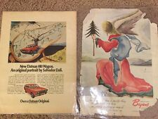 1973 Salvador Dali Clock Angel Posters From Magazines Rare!!!