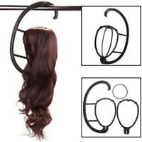 Black Wig Hanger Portable Hanging Stand Design for Wigs and Hats Display Holder