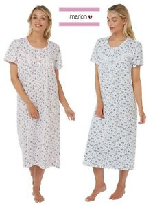 LADIES,PURE COTTON JERSEY maria FLORAL PRINT NIGHTDRESS SIZE 8/26 MA17970