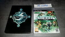 SACRED 3 SONY PS3 NEUF SOUS BLISTER VERSION FRANCAISE + STEELBOOK