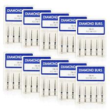 50 Diamond Bur Bits Drill Taper Round End Fg16mm Tr 11 For Dentist 50bx Js