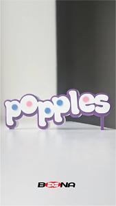 Decorative Self standing POPPLES logo display