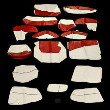BAYLINER 184 SF 2012 OEM RED /OFF WHITE VINYL BOAT SEAT COVER SKIN KIT 2066292