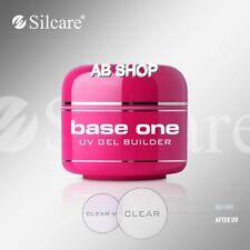 Una base clara 50g UV Gel Uñas de Gel de archivo ácido libre Builder silcare