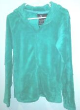 I 5 apparel fleece hoodie green new/tags sz m 100% polyester zip up front