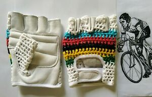Vintage Style Crochet Multicolor Cycling Mitt.
