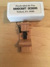 """1920s Wall Phone miniature Telephone  wooden 2"""" Tall 3305 dollhouse Handcrafted"""