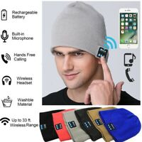 Wireless Bluetooth Headset Beanie Hat Music Headphones Earphone Cap Man /Women