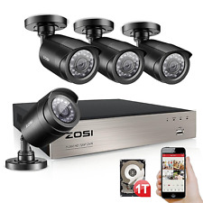 ZOSI Firm Shell 1TB 8CH 1080N 1500TVL Home CCTV Security Camera System TVI +GIFT
