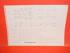 1971 PLYMOUTH SPORT FURY GT PONTIAC GRANDVILLE CONVERTIBLE FRAME DIMENSION CHART