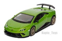 Lamboghini Huracan Performante green, Bburago 18-30397, scale 1:43, toy car gift