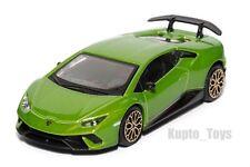 Lamboghini Huracan Performante green, Bburago 18-30397, scale 1:43, toy car gift