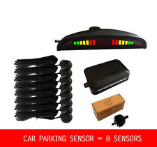8 Parking Sensor Car LED Display  Backup Reverse Radar Alarm System Black