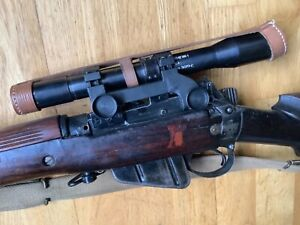 Ww2 original scope with caps, ideal display for lee Enfield sniper