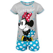 Disney Minnie Mouse Eeyore Little Mermaid Official Gift Ladies Short Pajamas Blue Z01 24655 8-10