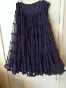 Multi-Layer AllSaints Plum Purple Net Skirt, Victorian Vampire / Cancan , Small