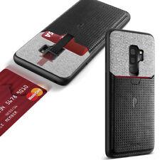 Samsung Galaxy S9 Plus Hybrid Soft TPU Leather Phone Case Shockproof Cover Black