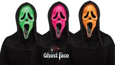 Fluorescent Ghost Face Scream Mask 3 Colour Set
