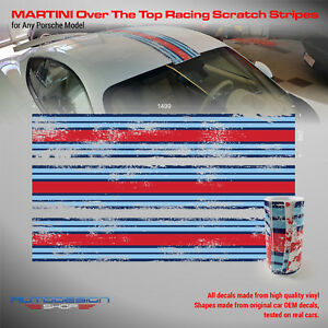 Martini Racing stripes Scratch Design over the top to any Porsche