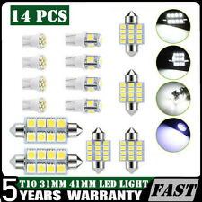 14X T10 Led Light Bulb Interior Dome Map License Plate Light 6000k 31mm 41mm PO