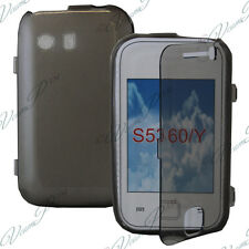 Case Portfolio Cover Flap Book Grey Samsung Galaxy There Neo GT-S5360/S5369i