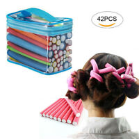 42PCS Hair Curling Rods Set Soft Spirel Hair Foam Curler Twist Hair Rollers FD8