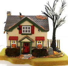 HAUNTSBURG HOUSE #56-55058 DEPT 56 RETIRED SNOW VILLAGE VERY DETAILED HALLOWEEN