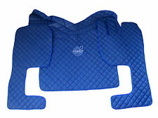 Set of Floor Mats Cover For VOLVO FH AUTOMAT 2004-2009  RHDrive BLUE Eco Leather