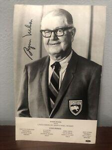 Byron Nelson Autographed 5x8 Photo Original Golf Lincoln-Mercury Sports