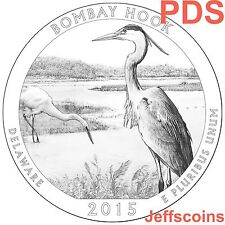 2x 2015 P D S Bombay Hook National Wildlife Delaware SET QUARTERS 2x PDS 6 Coins