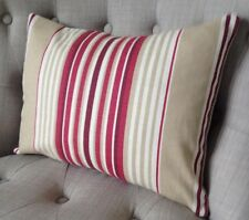 "12 x 16"" cushion cover in Laura Ashley Irving stripe cranberry & Austen reverse"