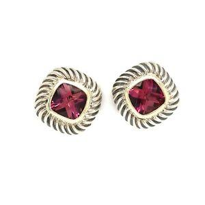 Stunning Estate David Yurman Hot Pink Tourmaline Earring