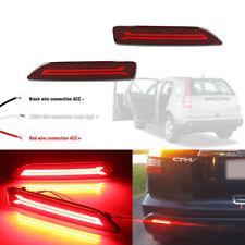 For Honda City CR-V BR-V LED Red Lens Rear Bumper Reflectors Tail Brake Lights