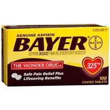 Bayer Genuine Aspirin Coated Tablets 325 MG 100 Ct