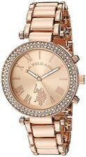 Accutime Watch Corp. U.S. Polo Assn. Womens Quartz Rose Gold-Toned Dress