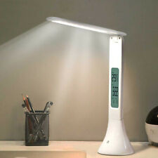 Touch-Sensitive Foldable LED Dimmable Table Lamp with Calendar Temperature Clock