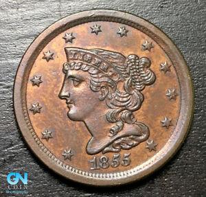 1855 Braided Hair Half Cent --  MAKE US AN OFFER! #B6393