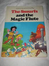 A Vintage 1979 Peyo Smurfs & the Magic Flute Cartoon Movie Children's Hardcover