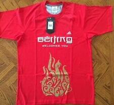 Beijing 2008 Olympic red men's Adidas T-shirt Medium NWT