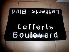 1969 R16 NYC SUBWAY SIGN LEFFERTS BOULEVARD NYCTA OZONE PARK QUEENS NY ROLL SIGN
