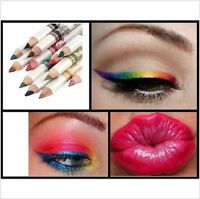 12 Colour Glitter Lip Liner Eye Shadow Eyeliner Pencil Professional Makeup Set