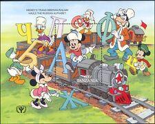 Tanzania 1990 ILY/Literacy/Disney Characters/Mickey/Alphabet/Train 1v m/s (b799)