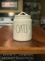 "Rae Dunn OATS Canister 7.5"" Large Letter  New!"