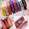 Women Small Zip PU Leather Wallet Card Holder Coin Purse Clutch Mini Bag Handbag
