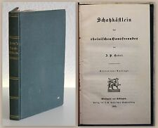 Hebel Schatzkästlein des rheinischen Hausfreundes 1865 Aufsätze Erzählungen xz